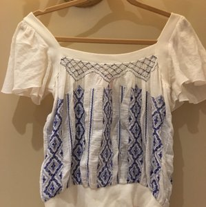 Free People White Halter Top