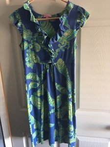 Lilly Pulitzer short dress Sea blue & green on Tradesy