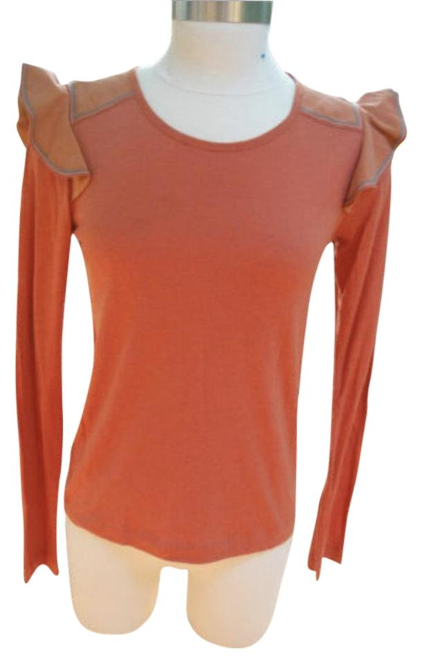 1af10f7b1b See by Chloé Oranges Ruffle Shoulder Long Sleeve 4 Tee Shirt Size 4-s 86%  off retail