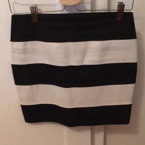 Romeo & Juliet Couture Mini Skirt Black and White