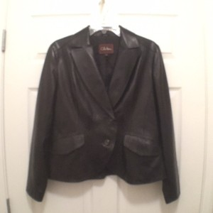 Cole Haan Leather Lambskin Leather Jacket