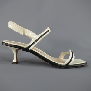 Chanel Pvc Velcro Leather Harness Sandals