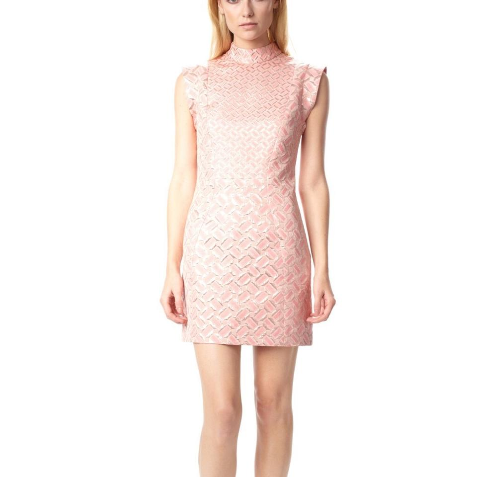 French Connection Pink Gold Tunnel Vision Above Knee Cocktail Dress ...