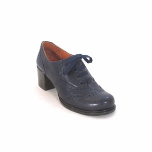 Chie Mihara Oxford Leather Navy Boots