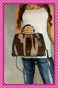 Coach Rare Haircalf Satchel in Multi
