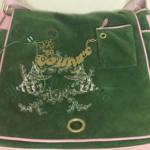 Juicy Couture Green Messenger Bag