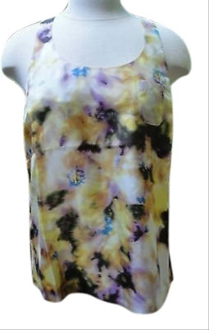 J.Crew Bn Factory Silk Watercolor Floral 0 Top Yellows