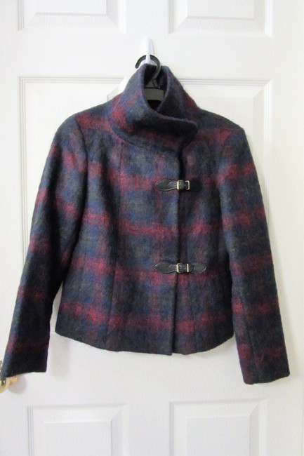 Item - Red and Blue Wool/ Alpaca Jacket Coat Size Petite 2 (XS)