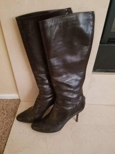 Jimmy Choo Patent Leather Salon Like New brown Boots
