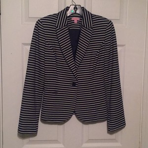 Lilly Pulitzer Navy and white Blazer