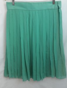 Chloé Chloe Green Silk Skirt