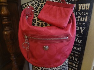 Coach Hot Pink Hangtags Hobo Bag