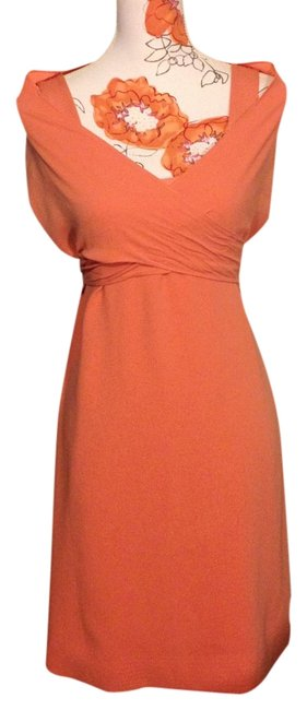 Item - Coral / Peach Convertible Mid-length Short Casual Dress Size 6 (S)