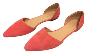 J.Crew Suede D'orsay Rose Blossom Flats