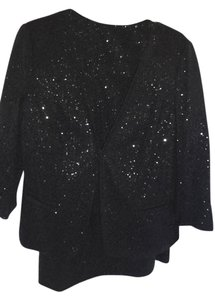 Charter Club BLACK SEQUIN JACKET AND SKIRT/3/4 SLEEVE