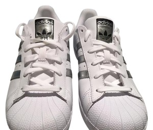 adidas White with silver Athletic