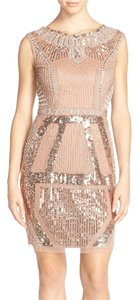 Aidan Mattox Mini Sequin Sheath Beaded Dress