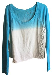 Arizona Jean Company Ombre Gradient Crewneck Embroidered Sweater
