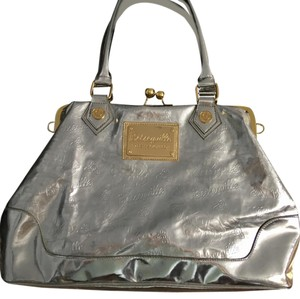 Betseyville by Betsey Johnson Tote in Silver and gold bag