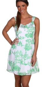 Lilly Pulitzer short dress White, Green, Pink on Tradesy