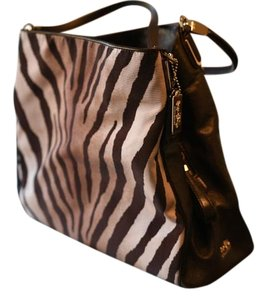 Coach Patent Leather Zebra Casual Shoulder Bag