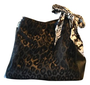 Coach Patent Leather Casual Cheetah Shoulder Bag