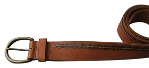 Abercrombie & Fitch WIDE LEATHER sequin BROWN BELT M A&F
