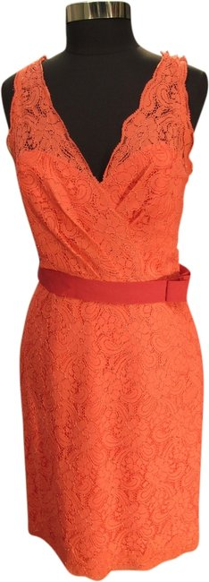Preload https://img-static.tradesy.com/item/2001697/watters-coral-3217-bridesmaid-lace-w-37-short-cocktail-dress-size-12-l-0-0-650-650.jpg