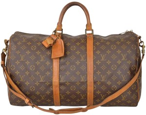 Louis Vuitton Duffle Gym Suitcase Brown Travel Bag