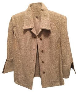St. John Tan St. Johns Skirt Suit
