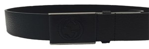 Gucci New Gucci belt Black leather with GG Logo Buckle (size 95cm)