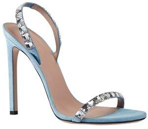 Gucci Strappy Sandal Crystal Blue Formal