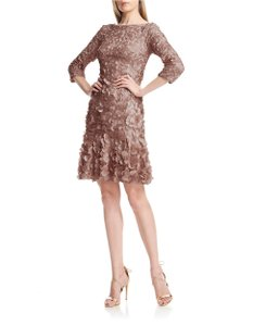 5e1cb814 Theia Petal 3/4 Sleeve A-line Dress