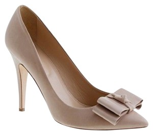 J.Crew Bow Italian Leather Pumps Nude, Tan, Camel Formal