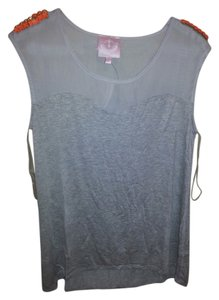 Romeo & Juliet Couture Embellished Top Grey
