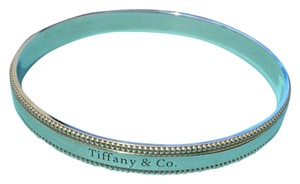 Tiffany & Co. Tiffany & Co Sterling Classic Silver Beaded Bangle