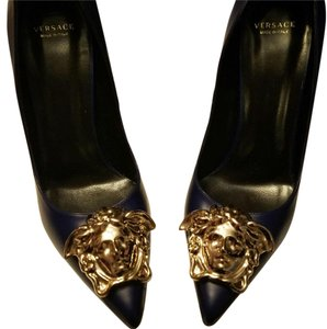 Versace Royal Blue Pumps