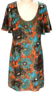Plenty by Tracy Reese Silk Floral Shift Scoop Neck Dress