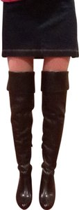 Worthington Over The Knee Thigh High Cuffed Black Boots