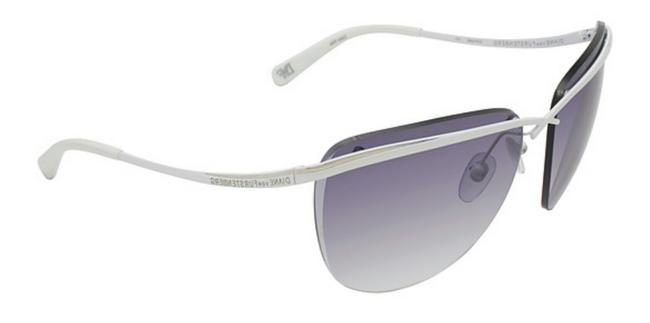 Item - White and Silver Frames Purple Fade Lenses Dvf108s Rockabilly Sunglasses
