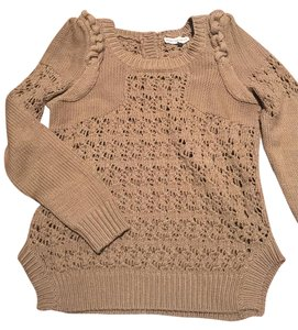 Rebecca Taylor Pointelle Braid Knit Sweater