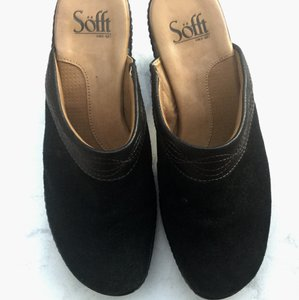 Eürosoft by Söfft Comfortable Leather Slip On Versitle Black Boots