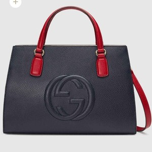 Gucci Satchel in Blue/red/white