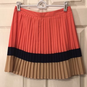 Forever 21 Mini Skirt Coral, navy, taupe. Multi