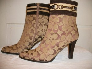 Coach Boot Leather Bootie Suede Brown Boots