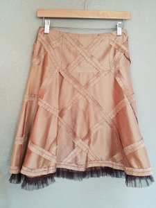 Nanette Lepore Silk Skirt Gold