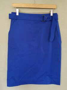Akris Punto Pencil Skirt Royal Blue