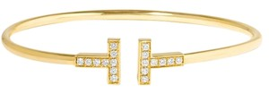 Tiffany & Co. T-Wire Gold Diamond Wire Bracelet