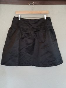 Nanette Lepore Satin Silk Mini Skirt Black