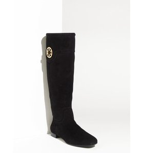 Tory Burch Suede Toty Selma Black Boots